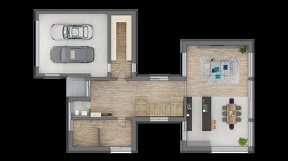 3D Grundriss EG Marie Interior Design