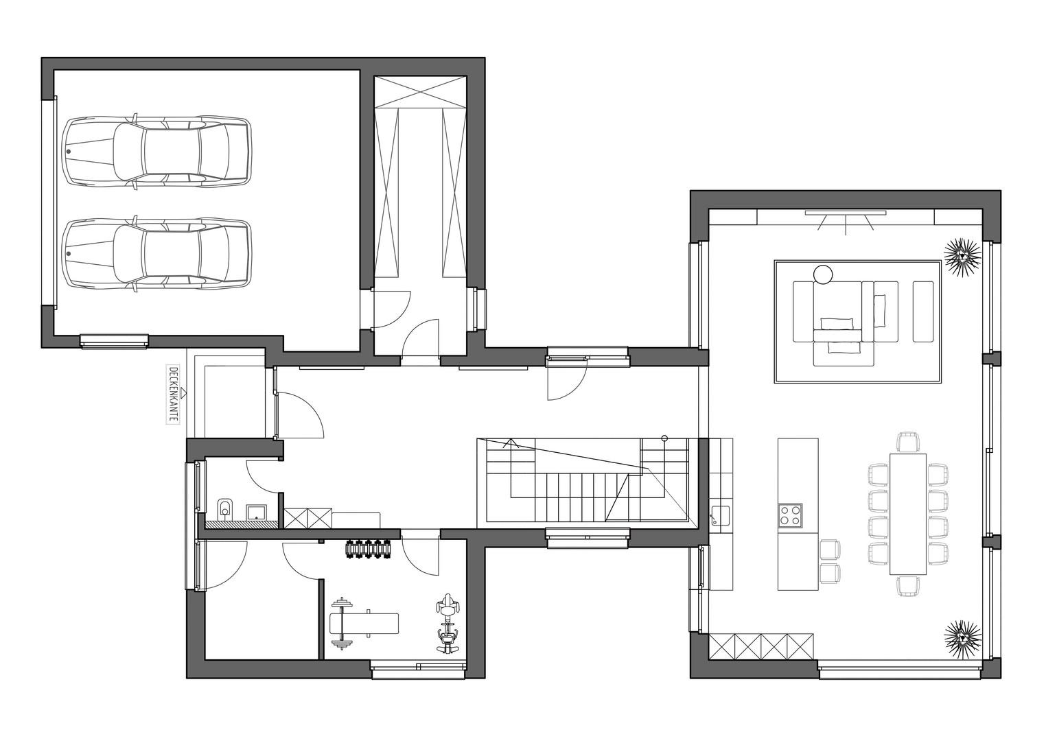 Stellplann EG Marie Interior Design