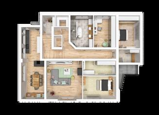 3D Grundriss Marie Interior  Design
