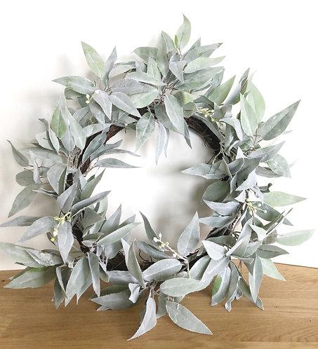 """12"""" Eucalyptus Wreath (artificial)"""