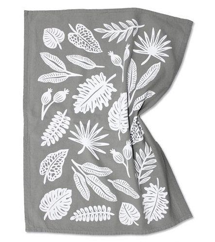 Leaf Print Tea Towel