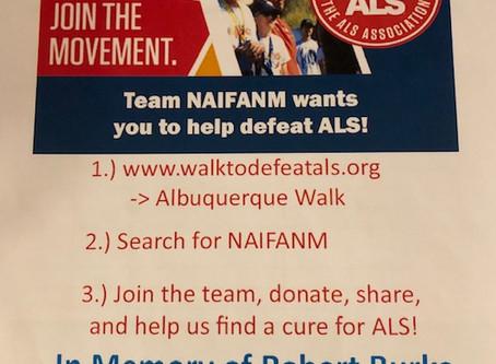 NAIFA NM Supports ALS Association