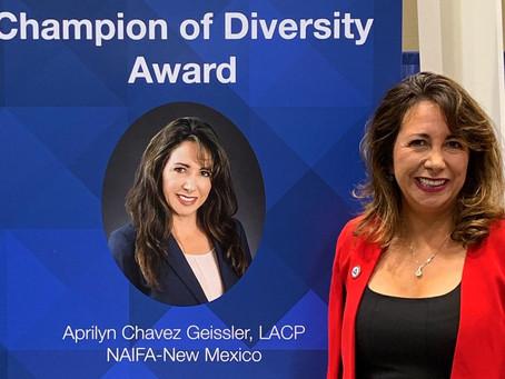 2019 NAIFA Diversity Champion Award Winner...