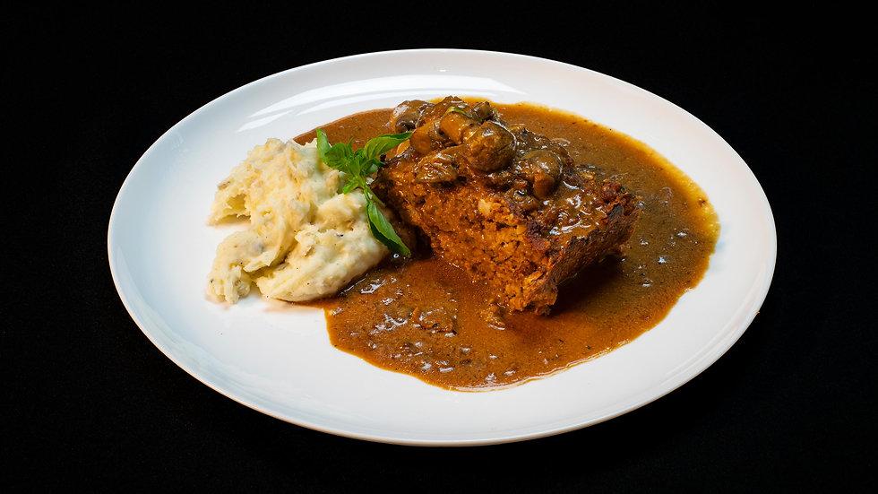 Auténtico Meatloaf americano-Torta de carne: Molde para 6 personas