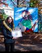 "2019 Mural in Vogt Park - ""Girl on a Swing"""