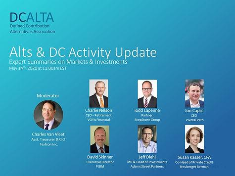 DCALTA Webinar - Alts & DC Activity Upda