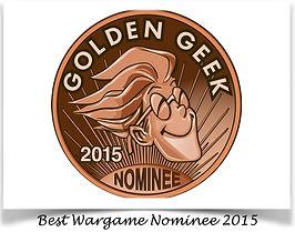 "The boardgamegeek.com ""Golden Geek"" Nominee badge | THEY COME UNSEEN 2015"