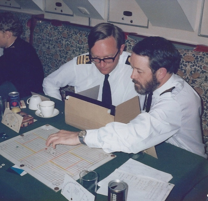 THEY COME UNSEEN being playtested at sea in the Royal Navy submarine HMS SOVEREIGN (SSN) in 1978