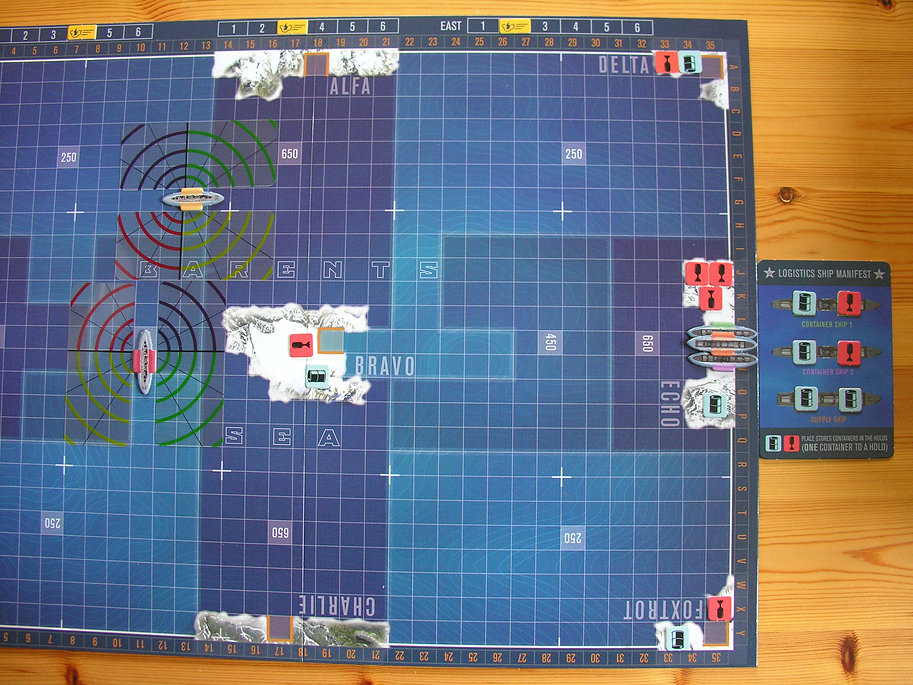 Managing Soviet logistics during the board game THEY COME UNSEEN