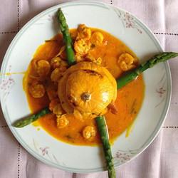 Camarão na Moranga #foodporn