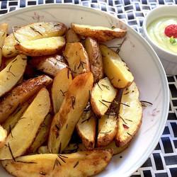 Batatas com alecrim e maionese de ervas caseira #food #foodporn  Obrigada _gourmetadois
