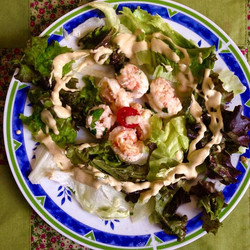 Salada de Lagostim ao vinho branco e manteiga com molho de mostarda #foodporn #lagostim