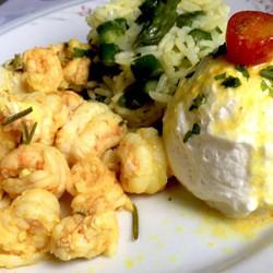 Lagostim com Arroz de Aspargos e Sour Cream #teresabistro #instafood #food