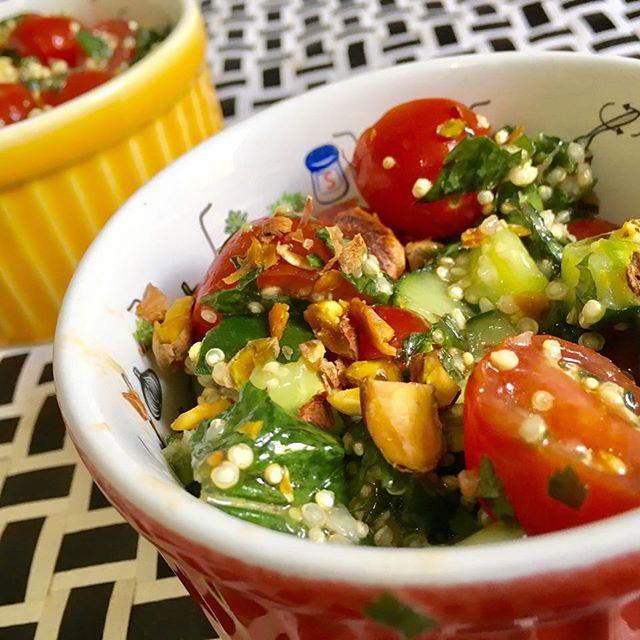 Tabule de Qnoa com Pistache #teresabistro #pornfood #food