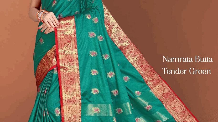 Fabric Pure Banarasi Saree (Tender Green)