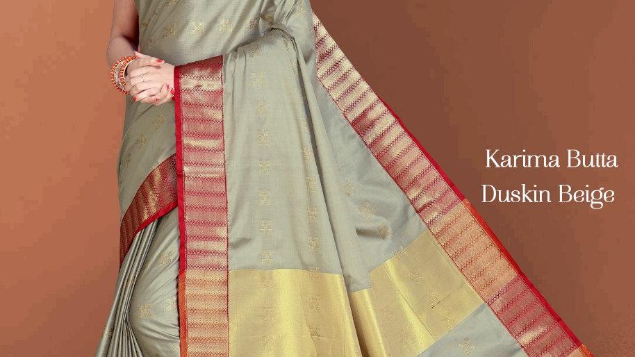 Fabric Pure Banarasi Saree (Duskin Beige)