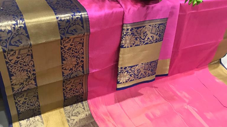 Adviktion Cotton Silk Saree