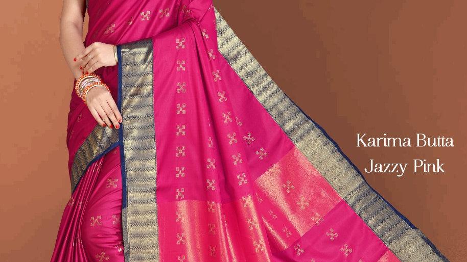 Fabric Pure Banarasi Saree (Jazzy Pink)