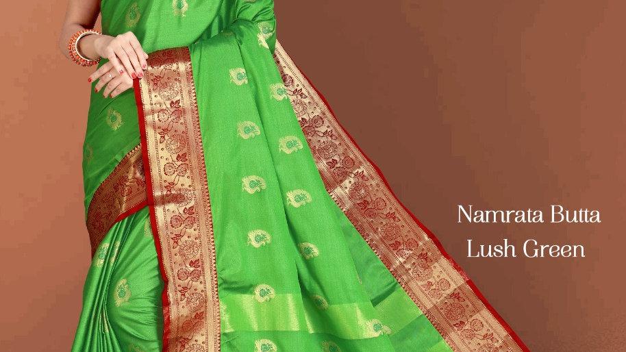 Fabric Pure Banarasi Saree (Lush Green)