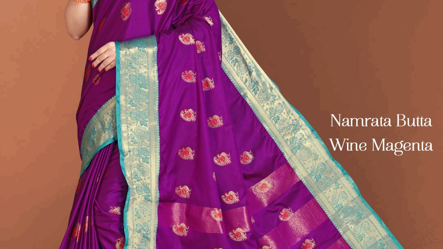 Fabric Pure Banarasi Saree (Wine Magenta)