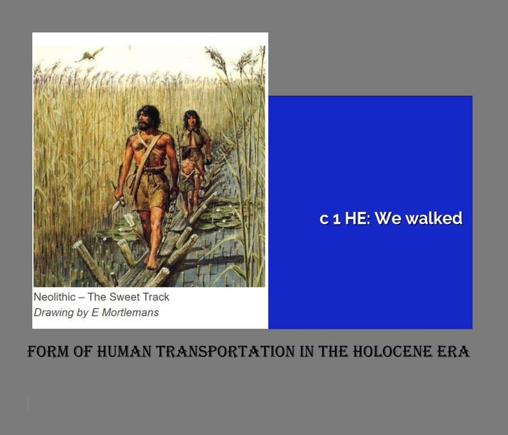 00001 HE form of human transportation we
