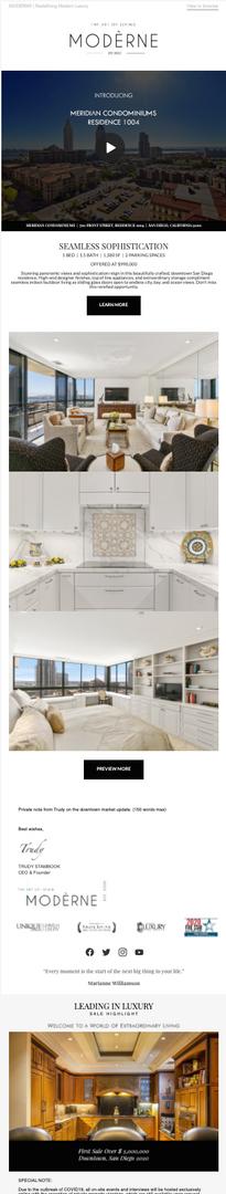 E-Mail Design - Luxury Real Estate