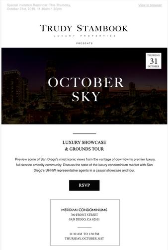 High-Profile Event Promotion & Design Campaign - Luxury Real Estate