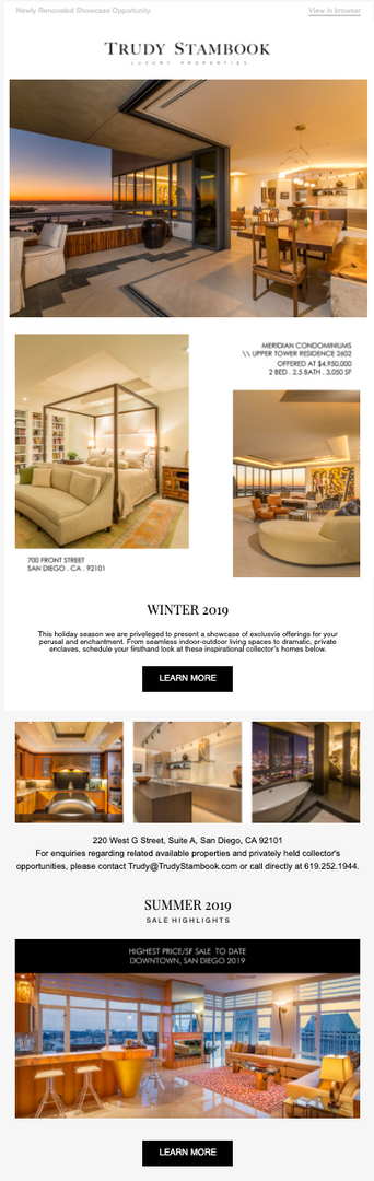 Multi-Million Dollar Portfolio Ad Design - Luxury Real Estate