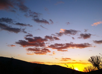 Sunset this evening South of Julian