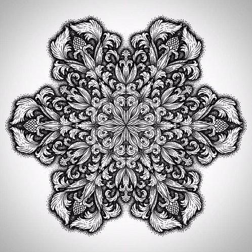 Victorian Mandala High Quality Print
