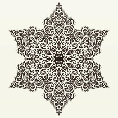 Swirl Mandala High Quality Print