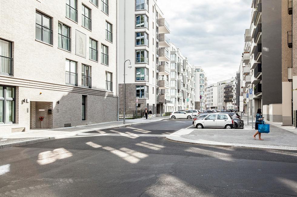 Häuserzeile, Neubau, Berlin, 2019