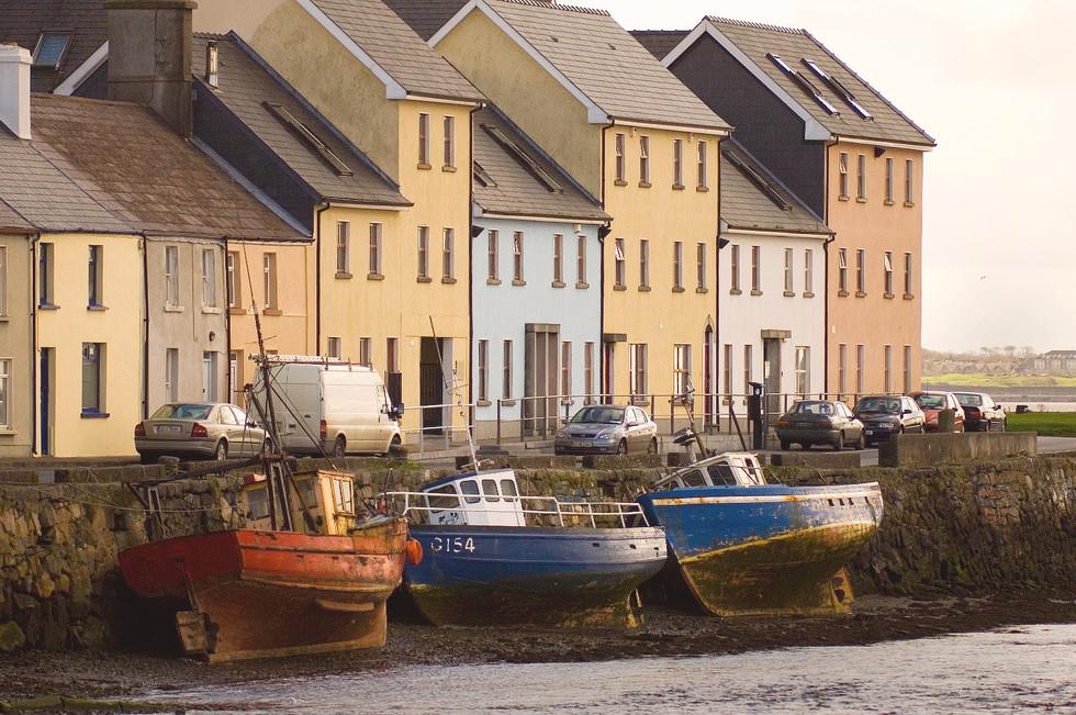 Häuserzeile, Galway, Rebublik Irland