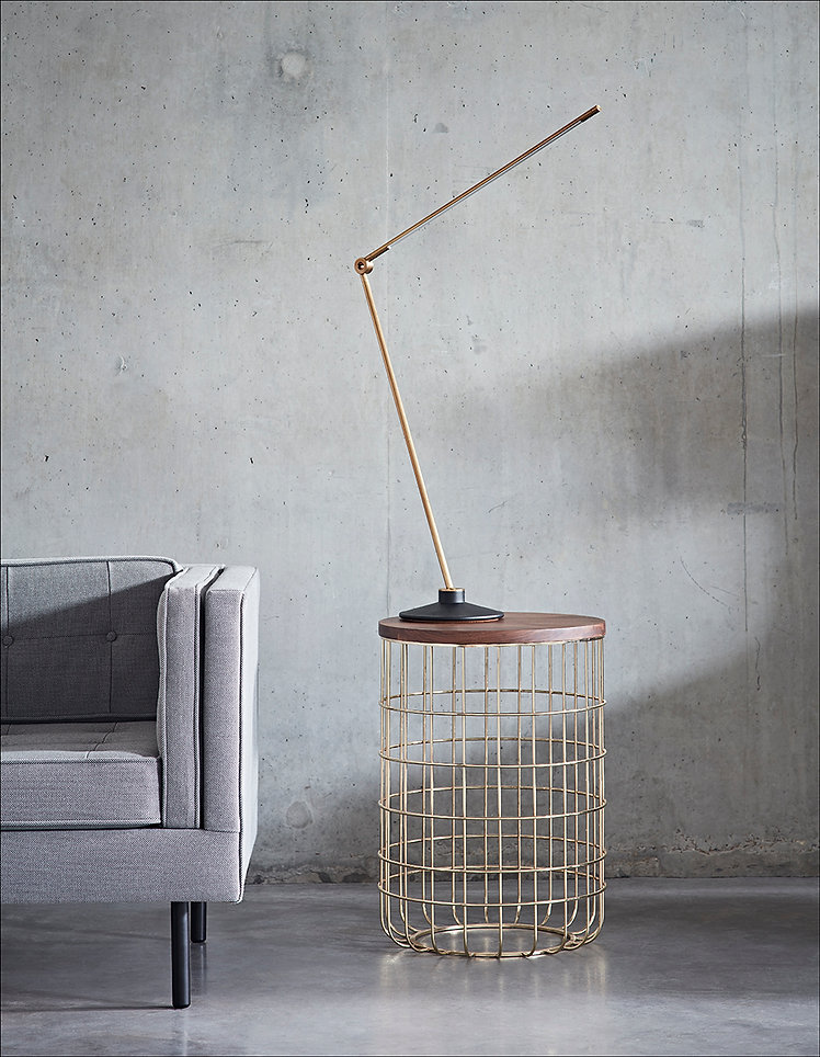 Dare Studio Wire Table ad Ella Sofa