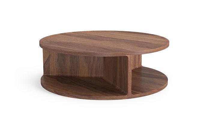 Drum Coffee Table Walnut