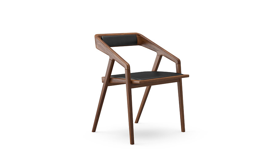 Katakana Dining Chair Walnut