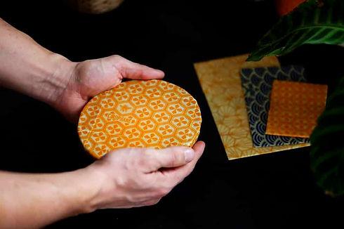 bees wrap fait en France en coton biologique et cire d'abeille pure