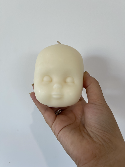 Medium Doll Head - White