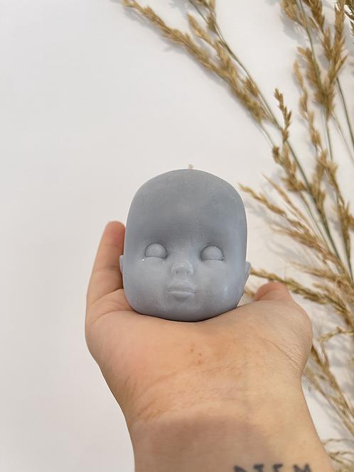 Small Doll Head - Grey