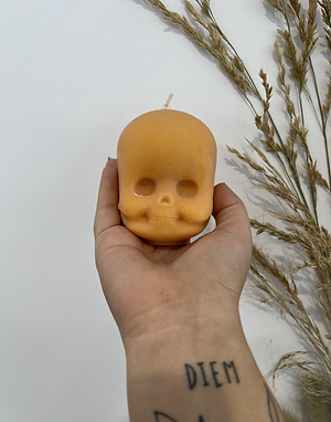 Skull Doll Head - Orange