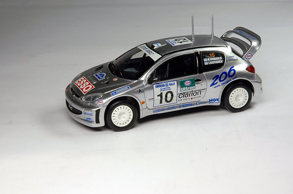 Peugeot 206 WRC 2K Silver Swedish Rally