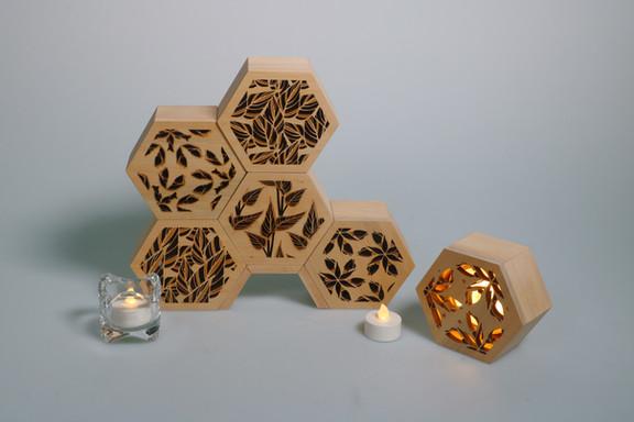 木製小夜燈*6