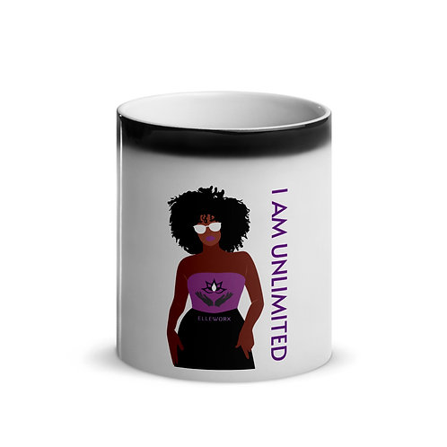 I Am Unlimited (Woman) Glossy Magic Mug