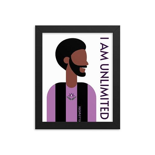 I Am Unlimited Framed poster