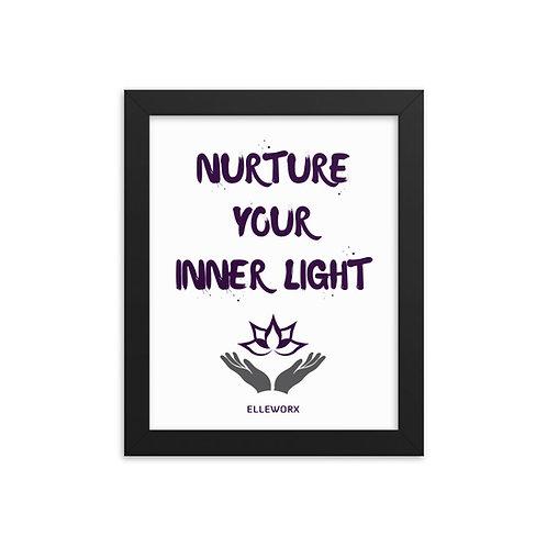 Nurture Your Inner Light Framed poster