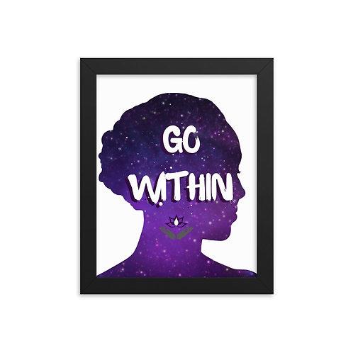 Go Within Framed poster