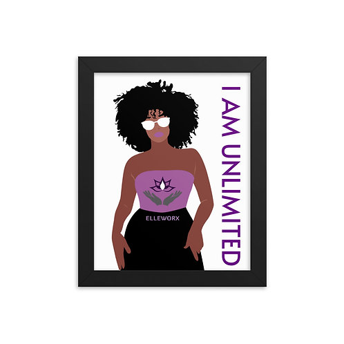 I Am Unlimited (Woman) Framed poster