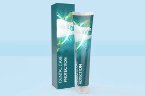 Product box for toothpaste packaging