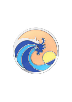 Ride the Wave Enamel