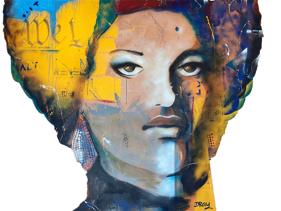 Mural of Kathleen Cleaver by Dray Studio and Gallery